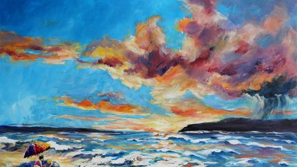 "Changing Horizon - Acrylic on Canvas – 23.5"" x 17.5"" - $265"