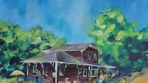 "Iron Horse Park - Acrylic on Canvas - 36"" x 24"" - $575"